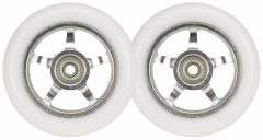 Fehér Alu stunt roller kerék, 100 mm