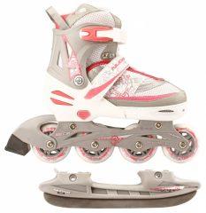 Nijdam Combo 2in1 állítható korcsolya, pink
