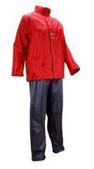 Ralka férfi esőruha, szürke-piros
