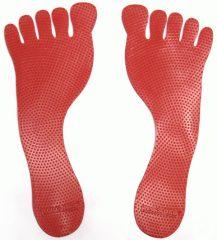Padlójelölő lábnyom, piros