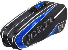 Pro's Pro Black-Blue tenisztáska, 8 ütős