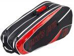 Pro's Pro Black-Red tenisztáska, 8 ütős