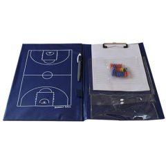 Kosárlabda taktikai tábla, edzőmappa
