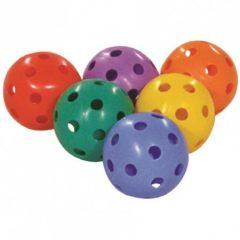 Színes floorball labda, 6 db