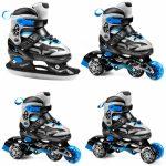 Spokey Quattro 4in1 állítható korcsolya, kék