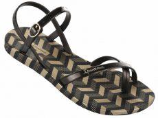 Ipanema Fashion Sandal V női szandál, fekete/arany 82291-21112