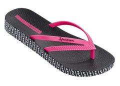 Ipanema Bossa Soft női papucs, fekete/pink, 82064-22883