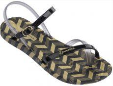 Ipanema Fashion Sandal V női szandál, fekete/ázlátszó/arany 82291-22155