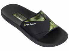 Rider Montreal II férfi papucs, fekete-zöld, 82325-21675