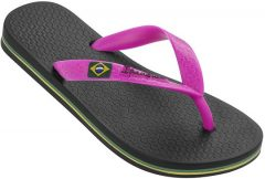 Ipanema NEW Classic Brasil Kids Gyerek Papucs, fekete/pink